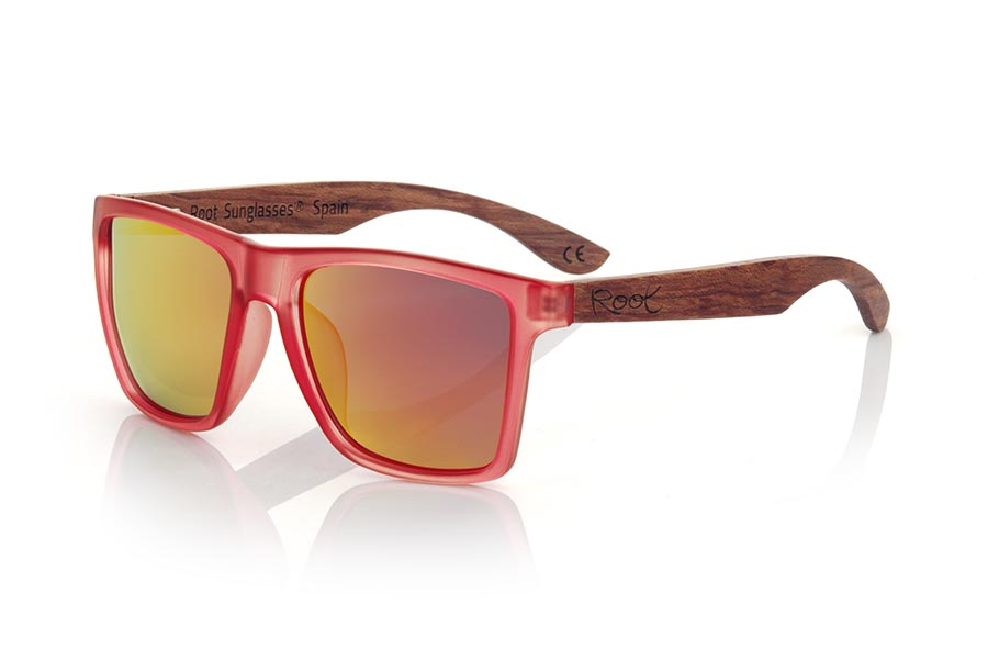 Gafas de Madera Natural de rosewood modelo RUN RED DS | Root Sunglasses®