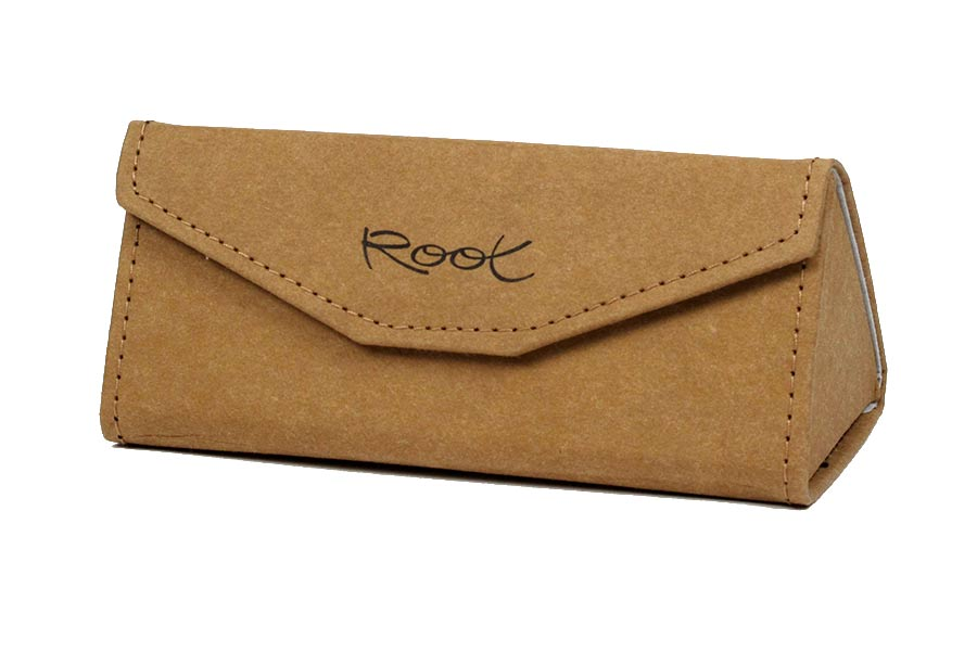 Gafas de Madera Natural de  modelo KRAFT FOLDING CASE.  | Root Sunglasses®