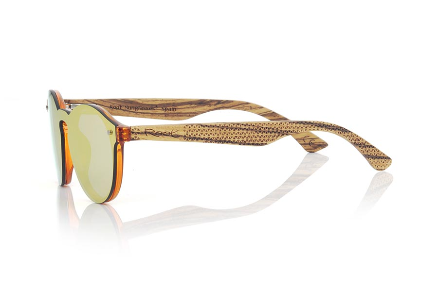 Wood eyewear of  SUN ORANGE.   |  Root Sunglasses®
