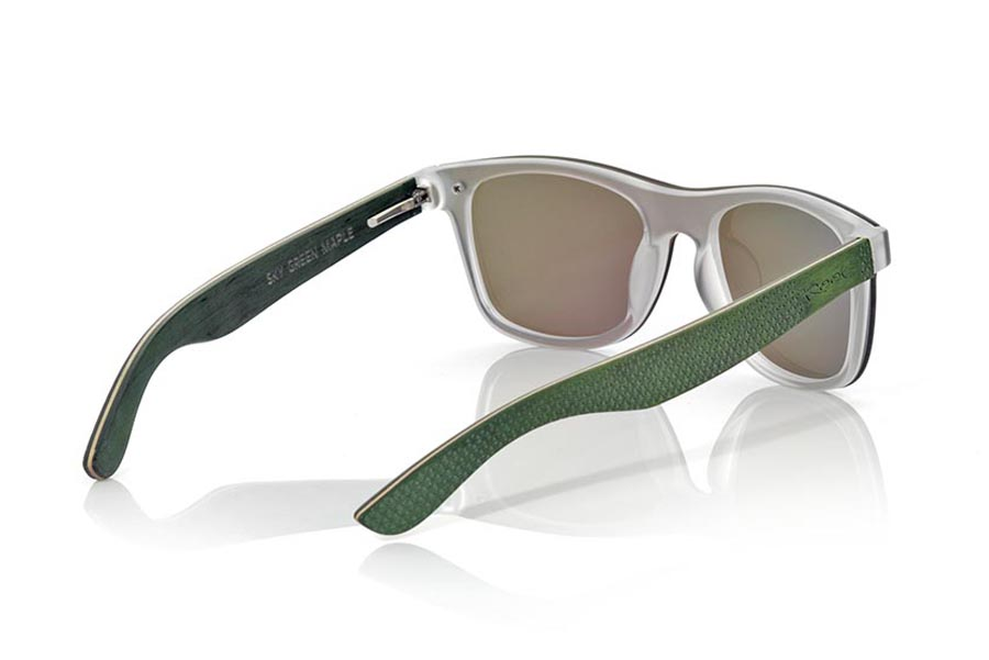 Wood eyewear of Skateboard SKY GREEN | Root Sunglasses®