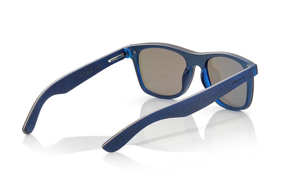 Gafas de Madera Natural de Laminada SKY BLUE | Root Sunglasses®