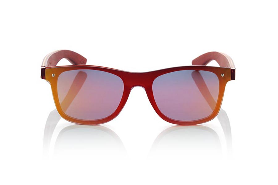 Wood eyewear of Skateboard modelo SKY RED | Root Sunglasses®