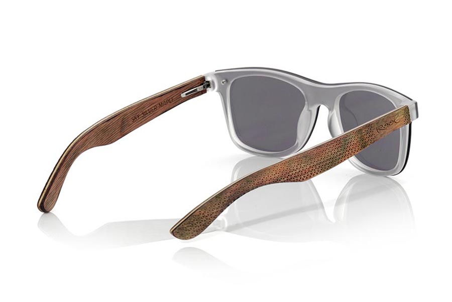 Wood eyewear of Skateboard modelo SKY SILVER | Root Sunglasses®