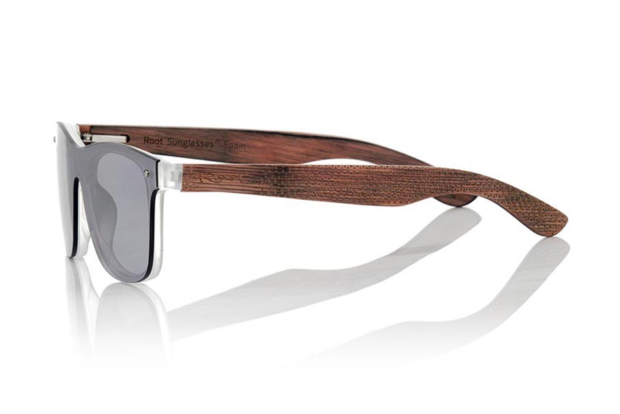 Wood eyewear of Skateboard SKY SILVER.   |  Root Sunglasses®