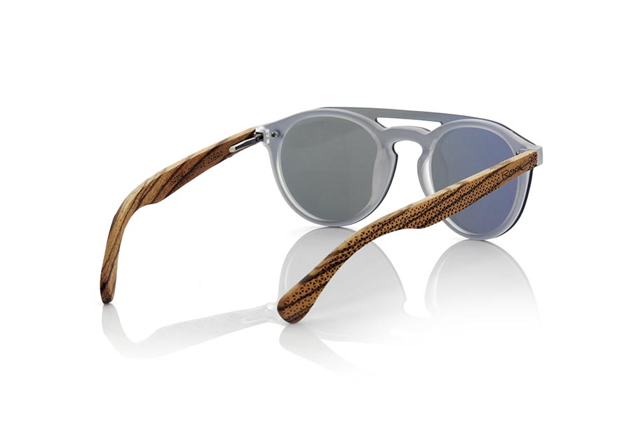 Wood eyewear of Zebra SAMBA PURPLE | Root Sunglasses®