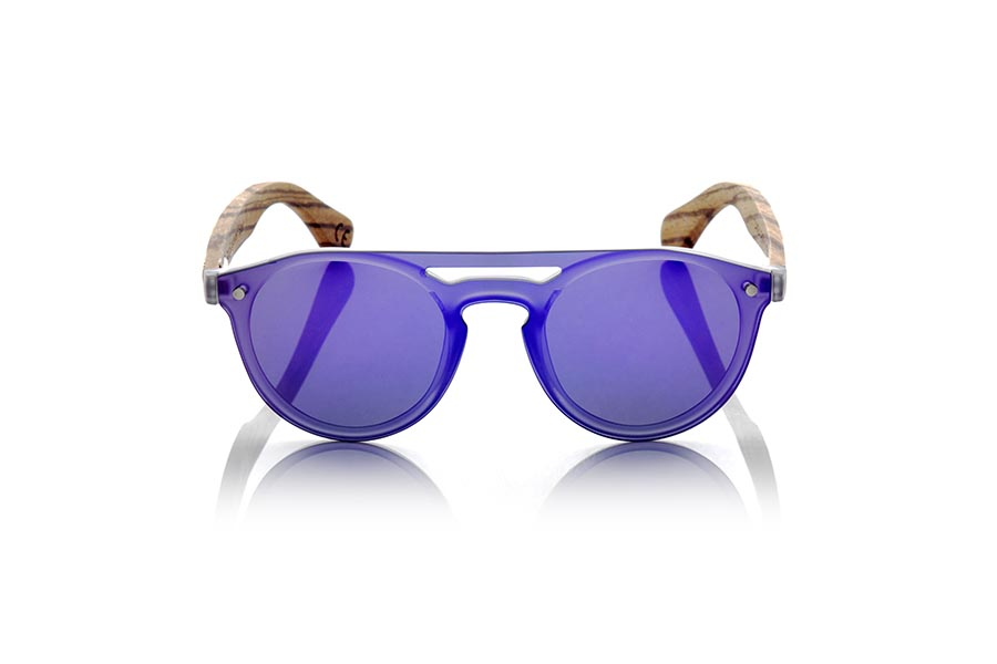 Wood eyewear of Zebra SAMBA PURPLE.   |  Root Sunglasses®