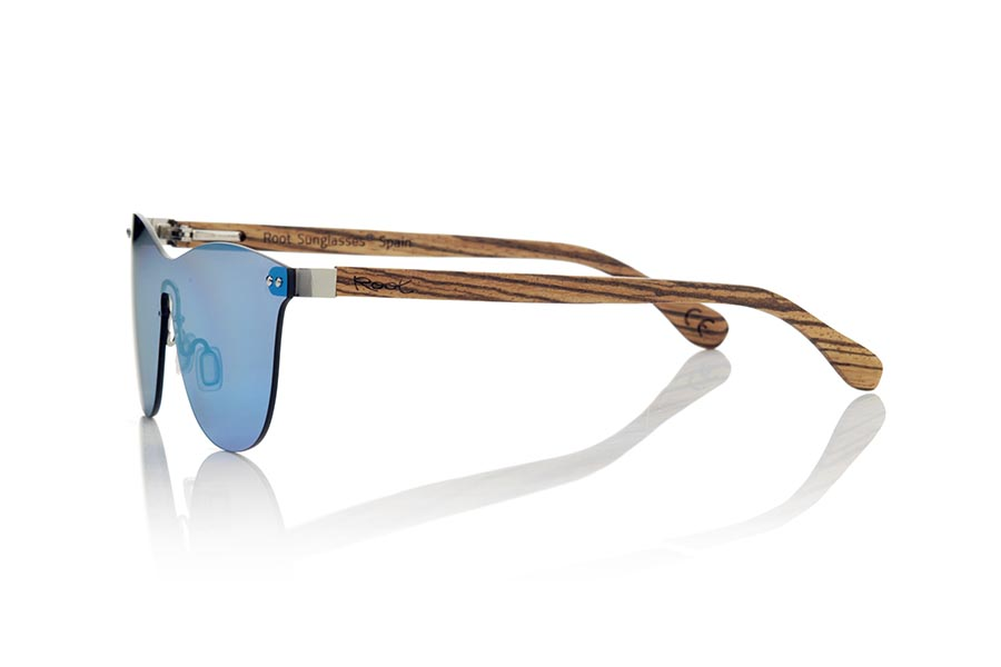 Gafas de Madera Natural de Zebrano modelo SUNSET ZEB | Root Sunglasses®