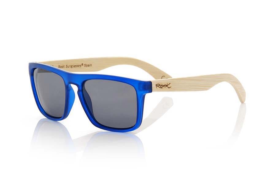 Wood eyewear of Bamboo WAVE BLUE | Root Sunglasses®