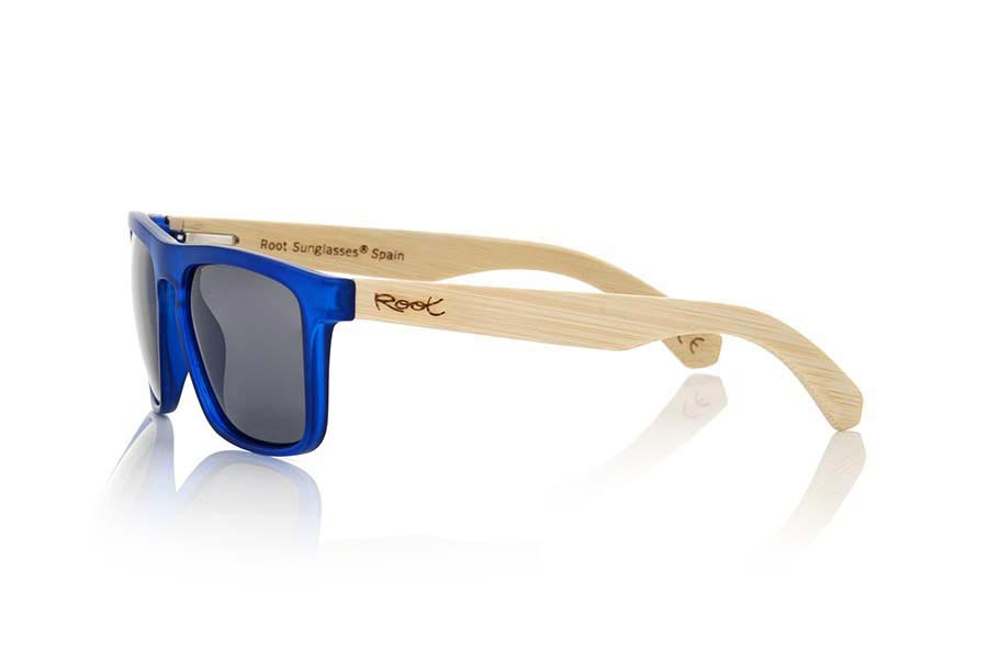 Wood eyewear of Bamboo WAVE BLUE | Root Sunglasses ®