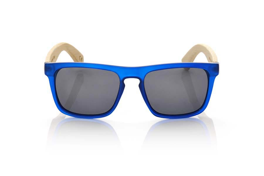 Wood eyewear of Bamboo WAVE BLUE.   |  Root Sunglasses®
