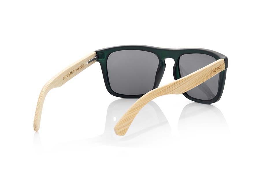 Wood eyewear of Bamboo WAVE GREEN   Root Sunglasses ®