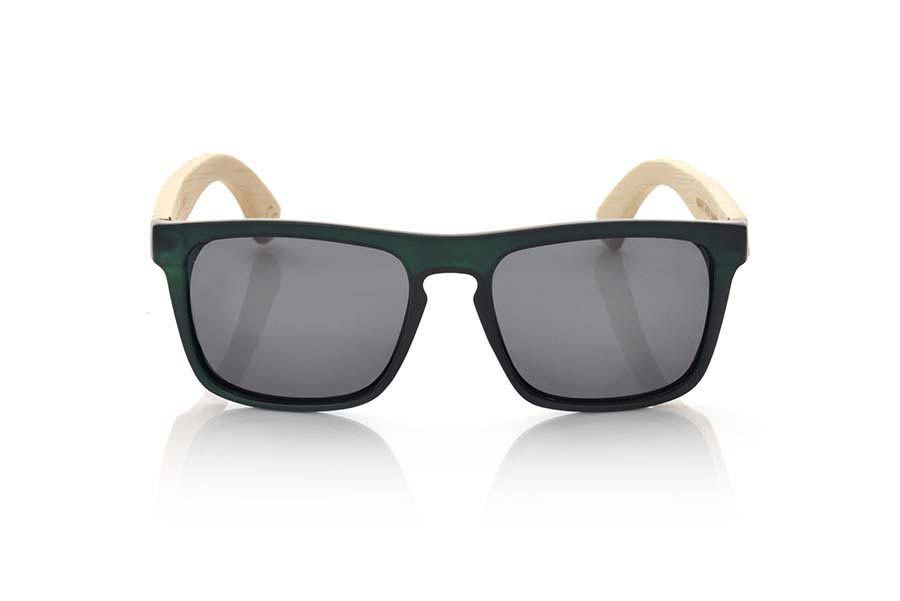 Wood eyewear of Bamboo WAVE GREEN | Root Sunglasses®