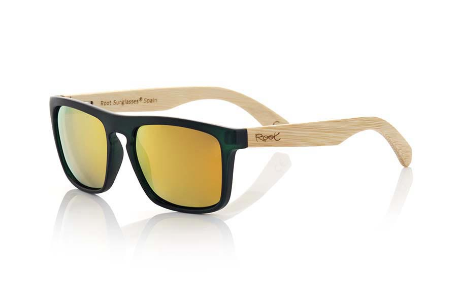 Wood eyewear of Bamboo WAVE GREEN | Root Sunglasses®