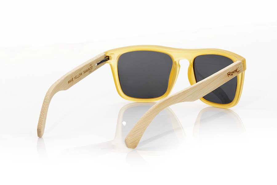 Gafas de Madera Natural de Bambú WAVE YELLOW | Root Sunglasses®