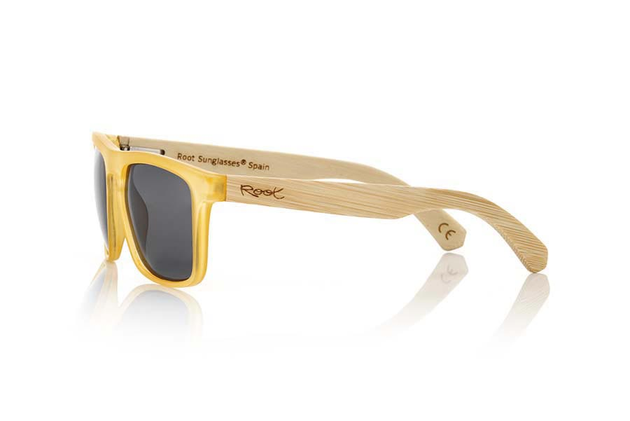 Wood eyewear of Bamboo WAVE YELLOW | Root Sunglasses®