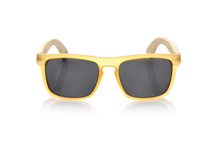 Wood eyewear of Bamboo WAVE YELLOW | Root Sunglasses ®