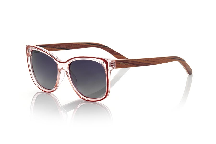Wood eyewear of Mahogany ZAHARA.   |  Root Sunglasses®
