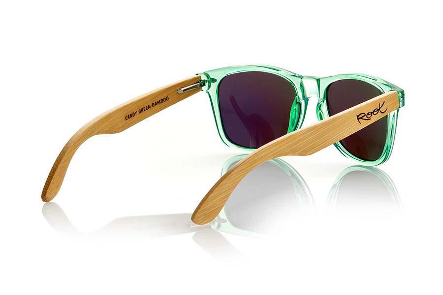 Gafas de Madera Natural de Bambú CANDY GREEN | Root Sunglasses ®