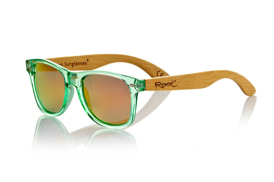 Wooden Sunglasses Root CANDY GREEN