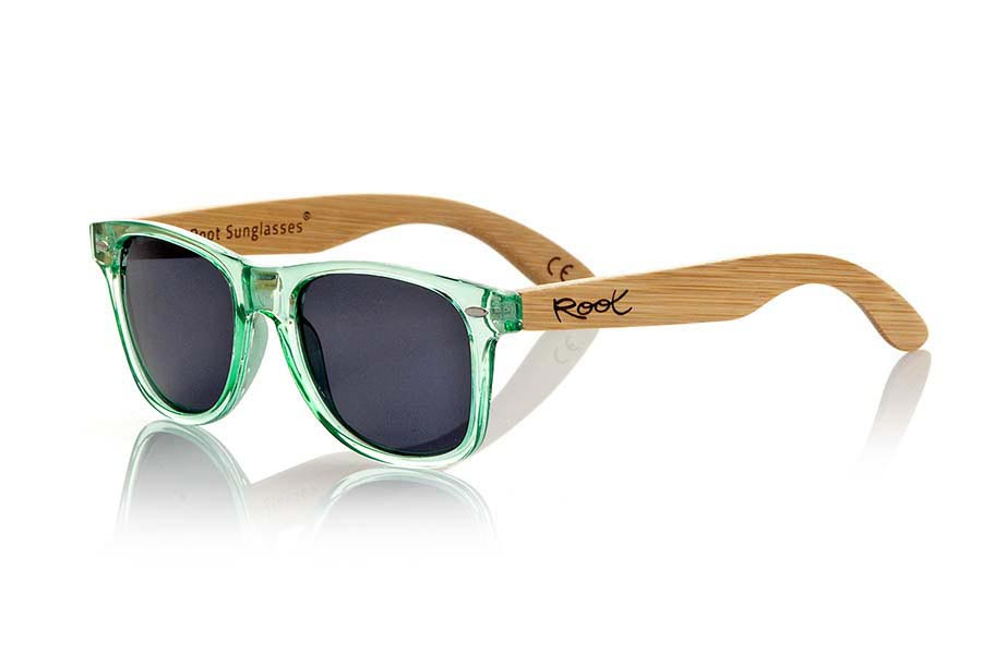 Gafas de Madera Natural de Bambú modelo CANDY GREEN | Root Sunglasses®