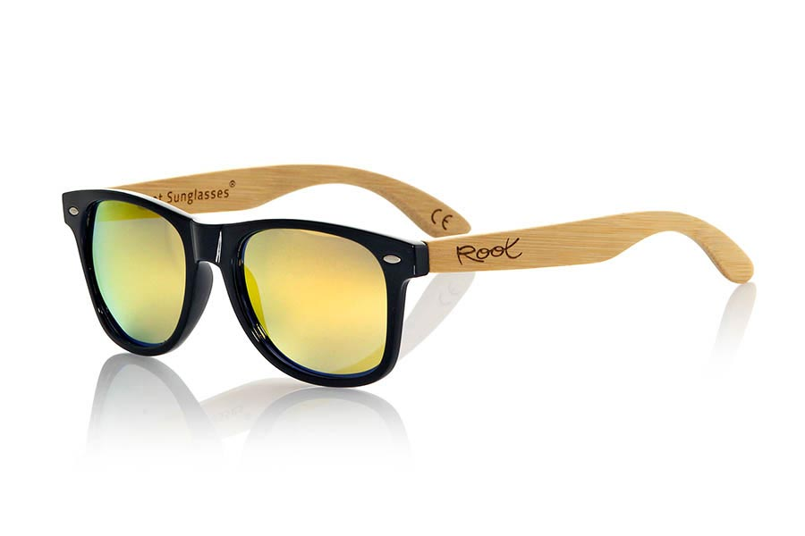 Wood eyewear of Bamboo modelo CANDY BLACK | Root Sunglasses®