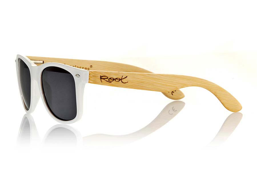 Gafas de Madera Natural de Bambú CANDY WHITE | Root Sunglasses®
