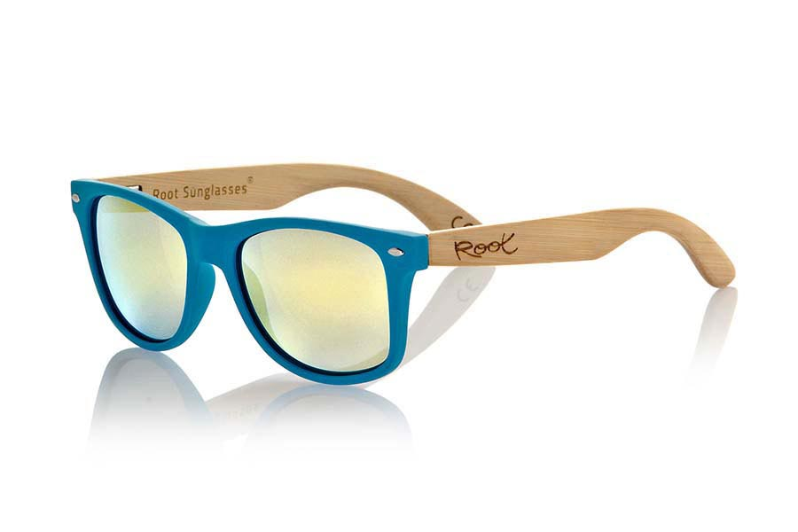 Wood eyewear of Bamboo MATT BLUE | Root Sunglasses®
