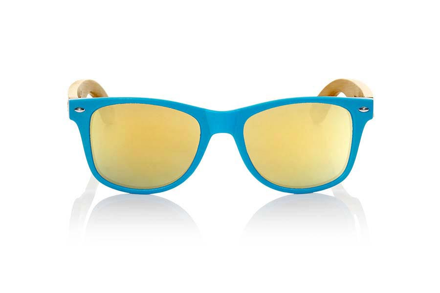 Gafas de Madera Natural de Bambú MATT BLUE | Root Sunglasses®