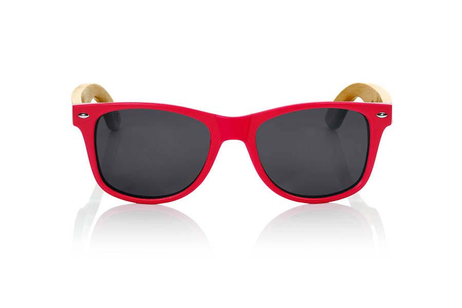 Gafas de Madera Natural de Bambú CANDY RED | Root Sunglasses®