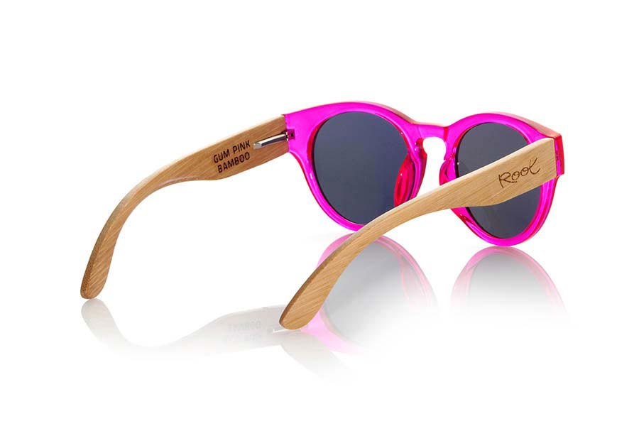 Wood eyewear of Bamboo GUM PINK.   |  Root Sunglasses®