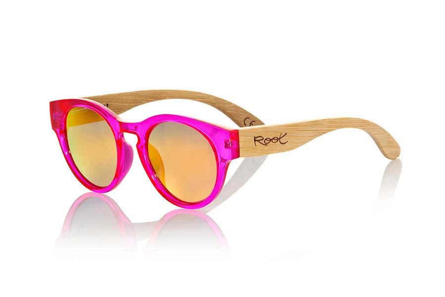 Wood eyewear of Bamboo modelo GUM PINK | Root Sunglasses®