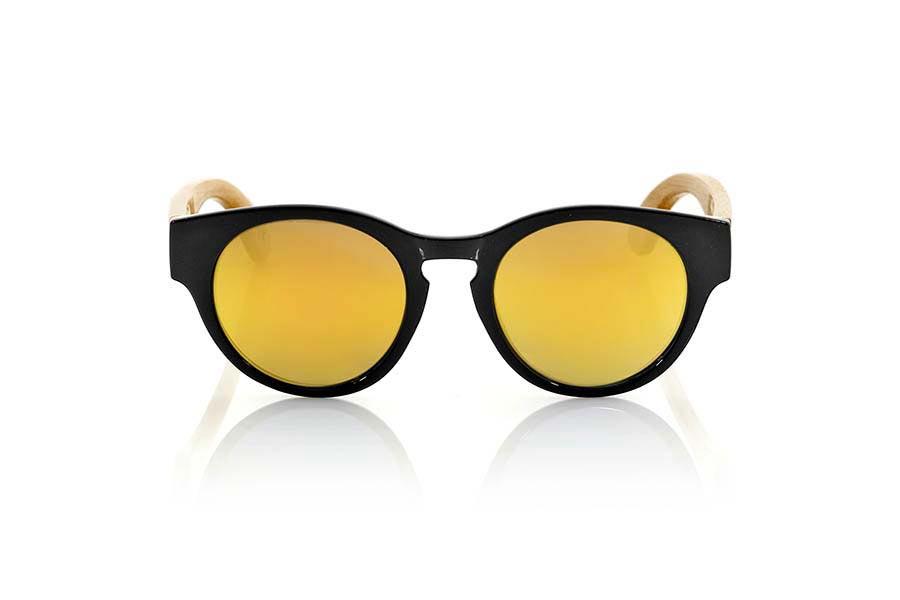 Wood eyewear of Bamboo GUM BLACK | Root Sunglasses ®