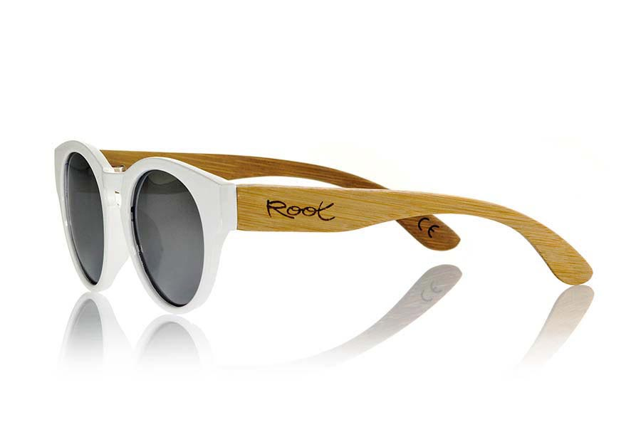 Wood eyewear of Bamboo GUM WHITE.   |  Root Sunglasses®