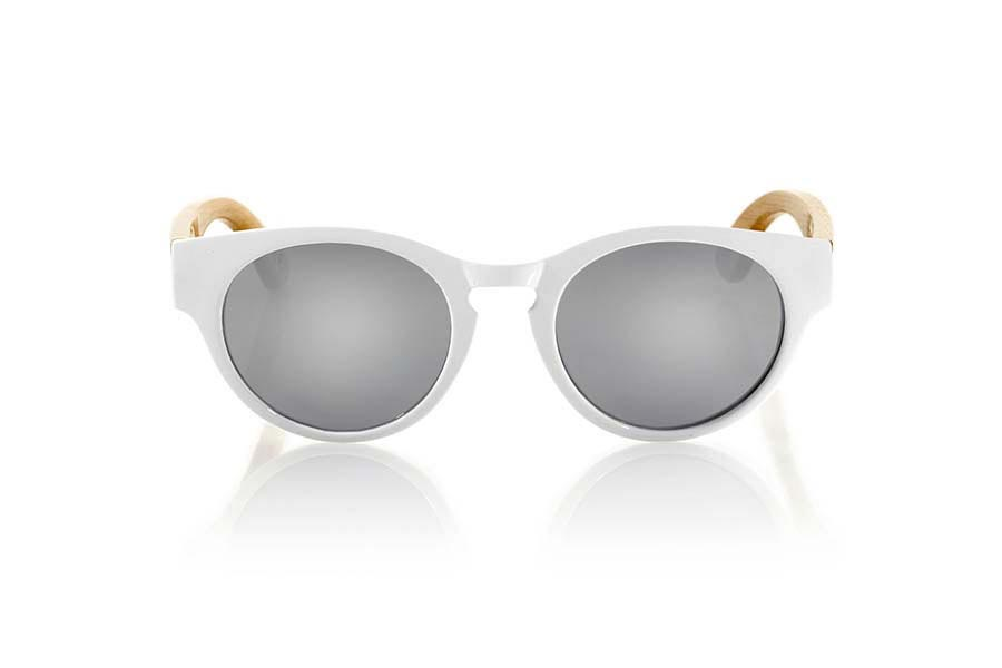 Wood eyewear of Bamboo GUM WHITE | Root Sunglasses®