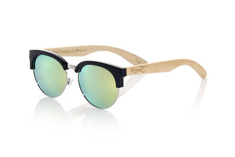 Wood eyewear of Bamboo DUNE BLACK | Root Sunglasses ®