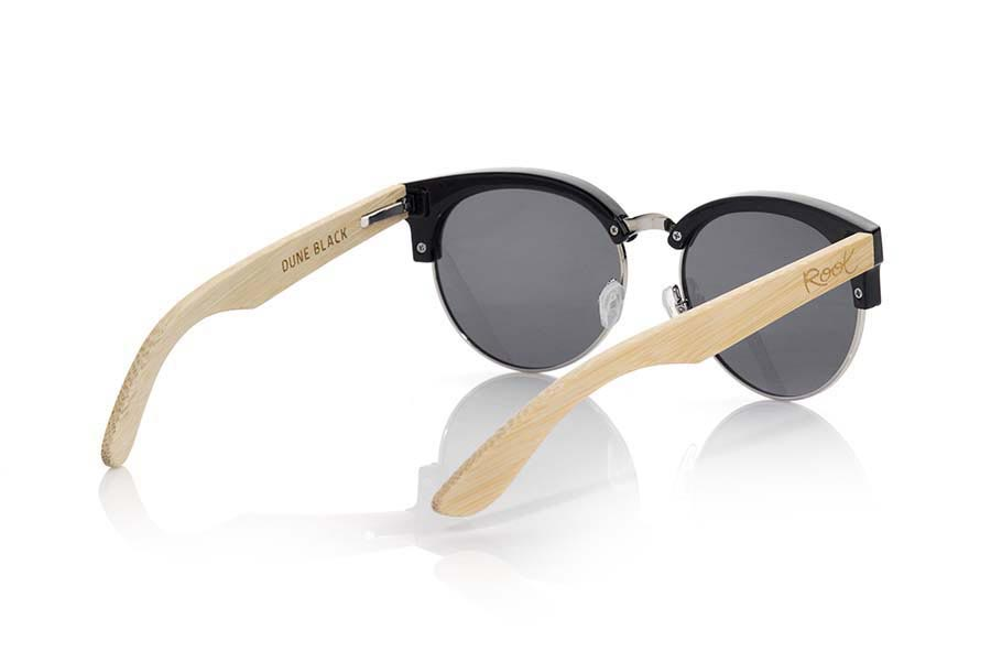 Wood eyewear of Bamboo DUNE BLACK | Root Sunglasses®