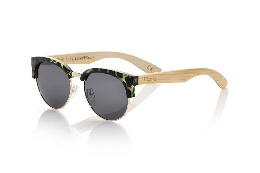 Wood eyewear of Bamboo DUNE CYAN | Root Sunglasses®