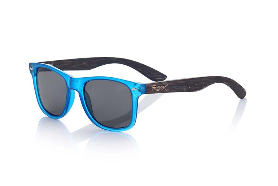 Wood eyewear of Bamboo SUN BLUE MX | Root Sunglasses®