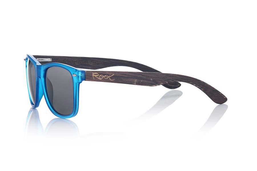 Wood eyewear of Bamboo modelo SUN BLUE MX | Root Sunglasses®
