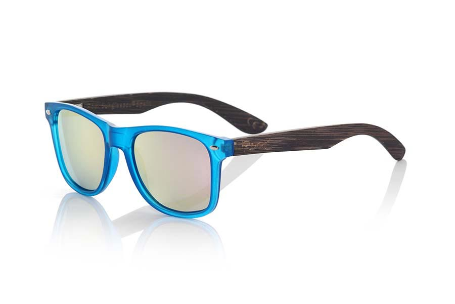 Wood eyewear of Bamboo SUN BLUE MX.   |  Root Sunglasses®