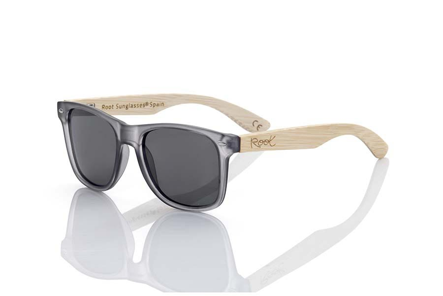 Wood eyewear of Bamboo SUN GREY MX | Root Sunglasses®