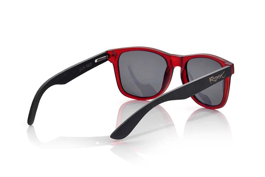 Wood eyewear of Bamboo SUN RED MX | Root Sunglasses ®