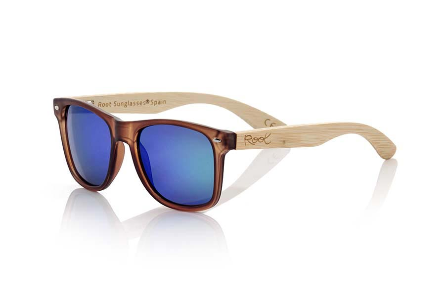 Wood eyewear of Bamboo modelo SUN BROWN MX | Root Sunglasses®