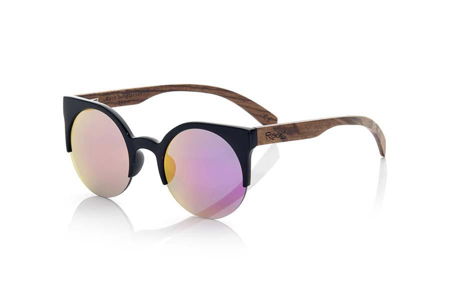 Gafas de Madera Natural de Zebrano modelo CAT BLACK | Root Sunglasses®