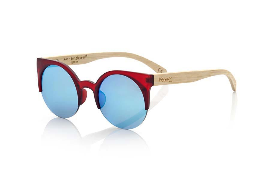Wood eyewear of Bamboo CAT RED.   |  Root Sunglasses®
