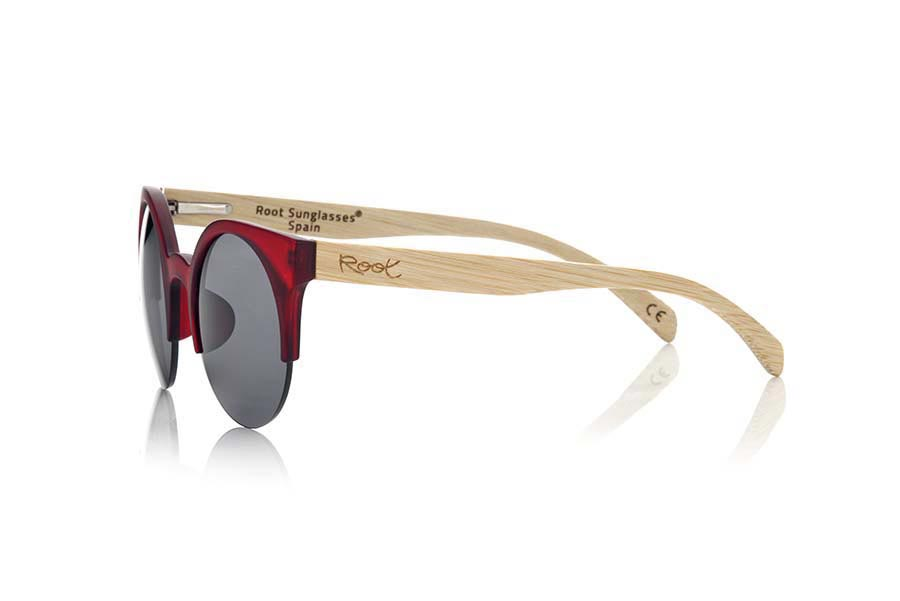 Gafas de Madera Natural de Bambú CAT RED | Root Sunglasses®