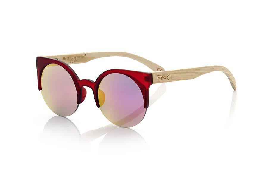 Wood eyewear of Bamboo CAT RED | Root Sunglasses®