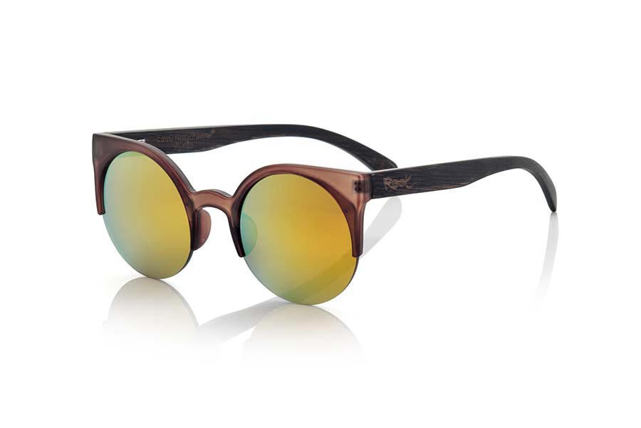 Wood eyewear of Bamboo CAT BROWN | Root Sunglasses®
