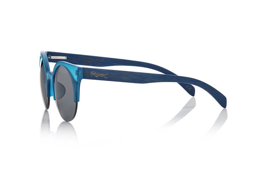 Wood eyewear of Bamboo CAT BLUE | Root Sunglasses®