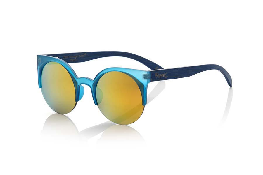 Gafas de Madera Natural de Bambú CAT BLUE | Root Sunglasses®